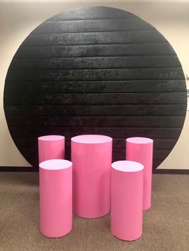 Velvet Round Black Wall