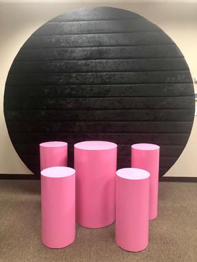 Wall Round Velvet Black