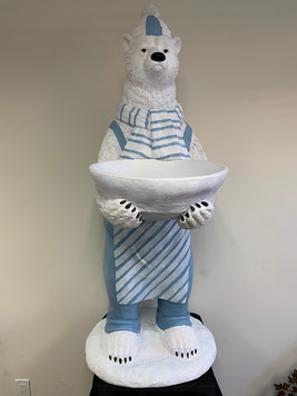 Winter Polar Bear Bowl 5ft Tall