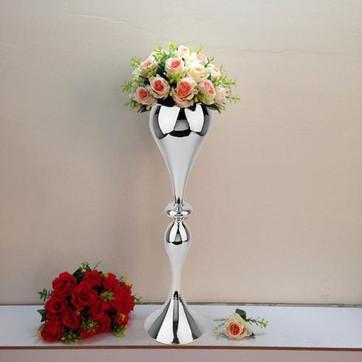 Vase Trumpet 25 inch Silver