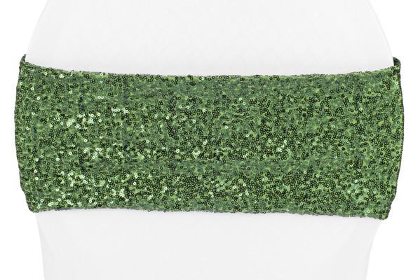 Sequin Willow Green Sash