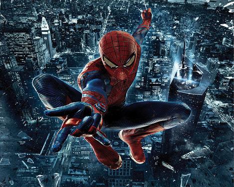 Vinyl Backdrop Spiderman 8x8