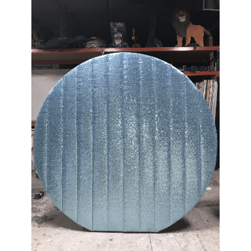 Sequin Round Baby Blue Wall