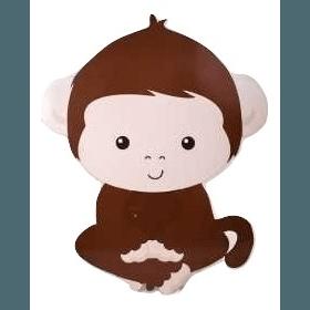Baby Monkey Wood Cutout 3 ft