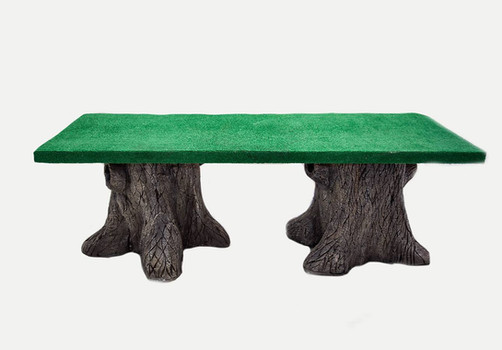 Theme Rustic Tree Trunk Table