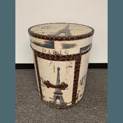 Vintage Trunk Paris Theme Round 24tX18r