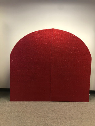 Arch Wall Red Sequin