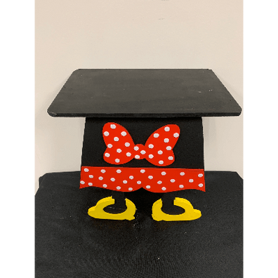 MICKEY MOUSE CAKE STAND BOW 10 INCH TALL