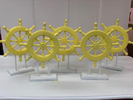Ship Wheel Centerpeice