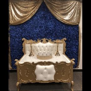 Dessert Table Crib Gold White