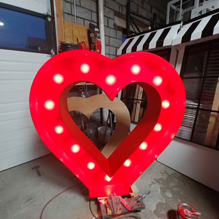 Marquee Red Heart