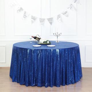 Sequin Tablecloth Royal Blue