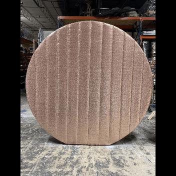 Sequin Round Blush Wall