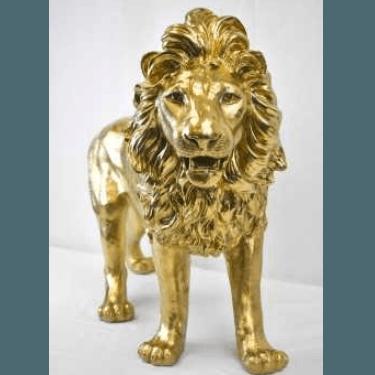 Lion Gold Statue