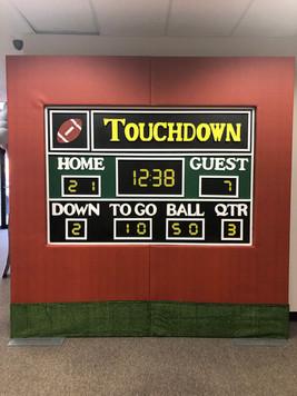 Football Scoreboard Wall