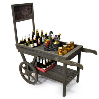 Wooden Cart with Chalkboard