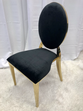 Dining Chair Black Gold