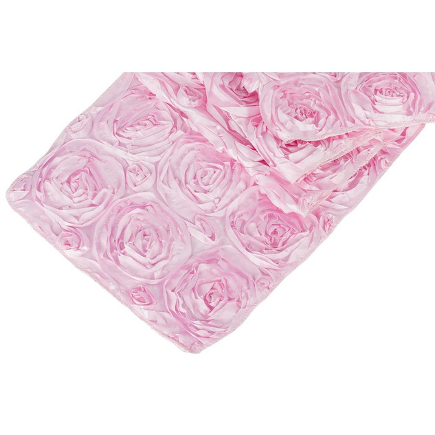 Rosette Table Runner Pink