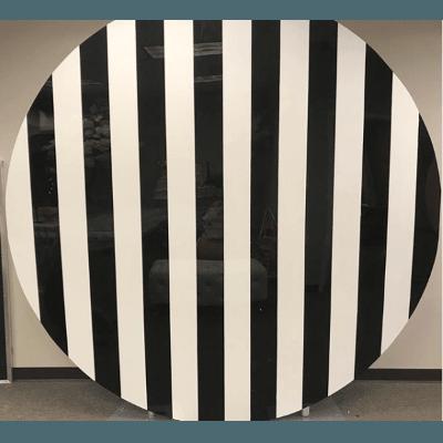 Acrylic Round Stripe Black White Wall