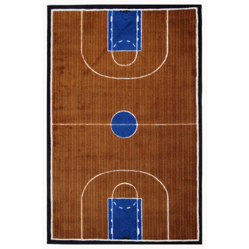 Basketball Theme Court Rug