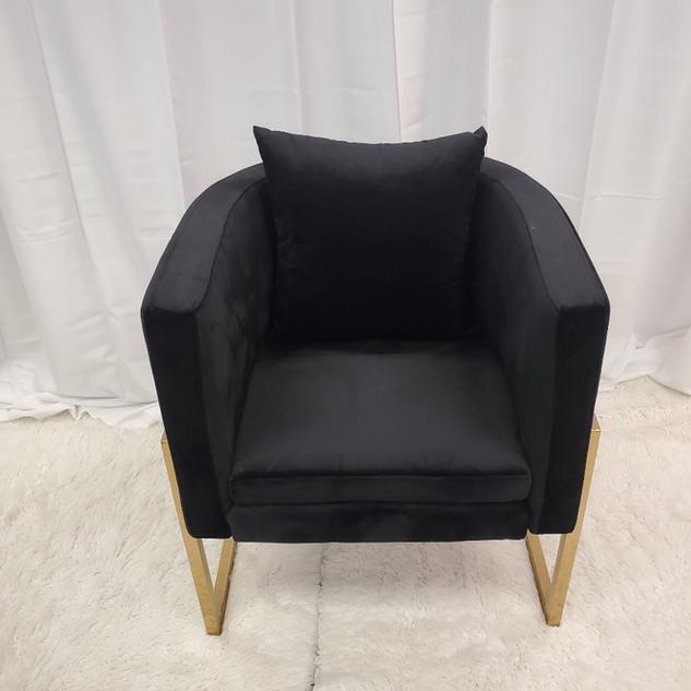 Lounge Chair Black Gold Frame