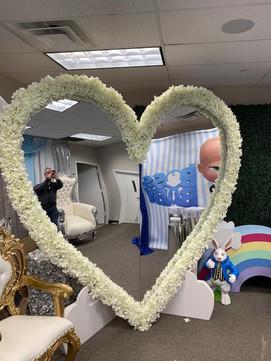 Flower Mirror Wall