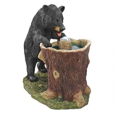 Black Bear Guzzling Gulp