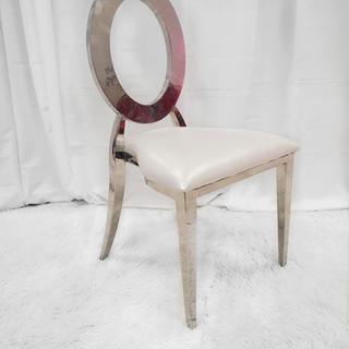 Modern Stainless Steel Silver Banquet Chair