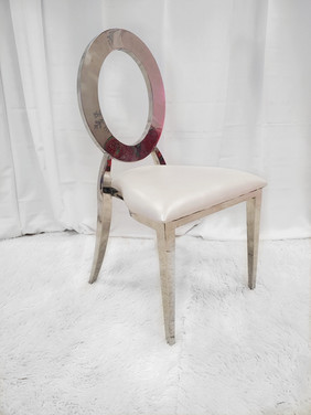 Dining Chair Silver White