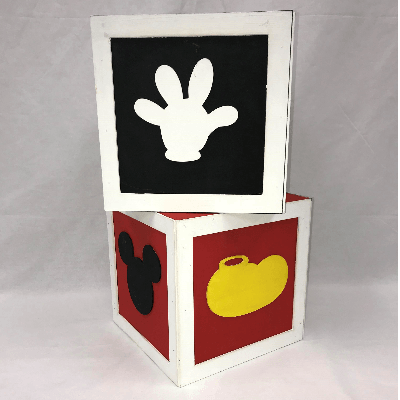 MICKEY MOUSE THEME CUBES 10X10