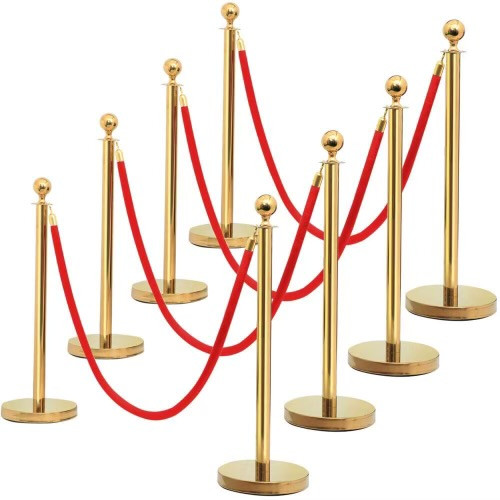 Stanchion Poles Gold