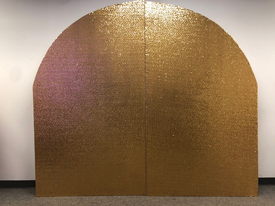 Arch Wall Gold Sequin