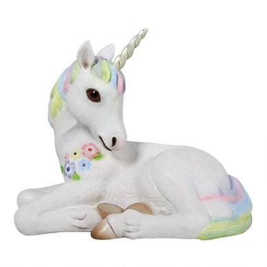 Unicorn Resting Statue Right