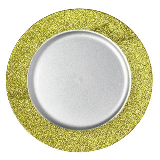 Giltter Border Charger Plate