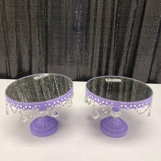 Cake Stands Crystals Lavender