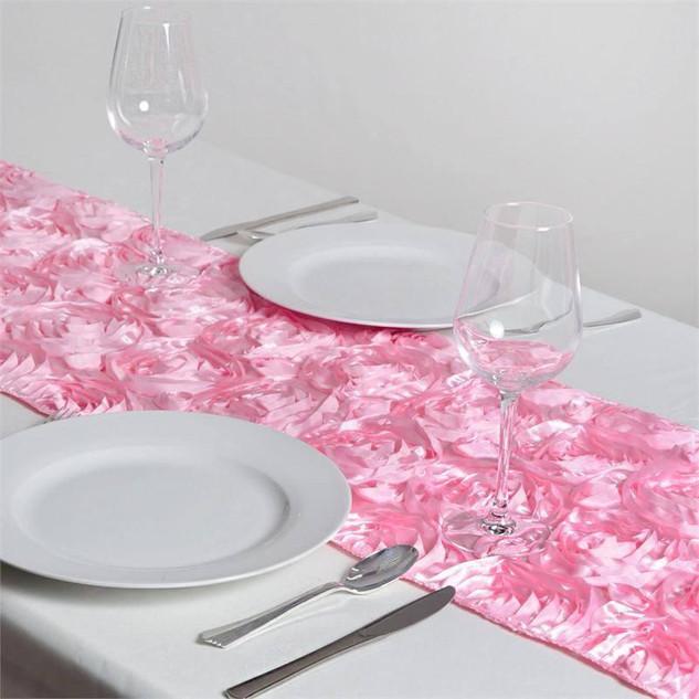 Rosette Runner Pink 12x108