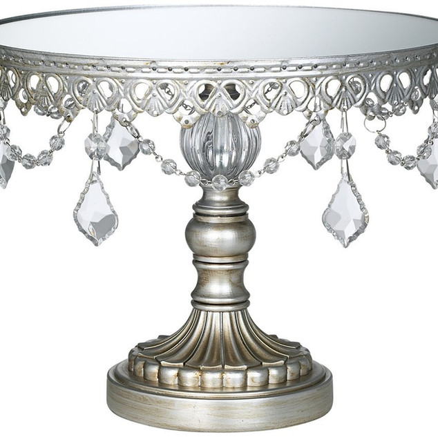 10 INCH TOP 8 INCH TALL SILVER