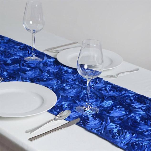 Rosette Runner Royal Blue 12x108