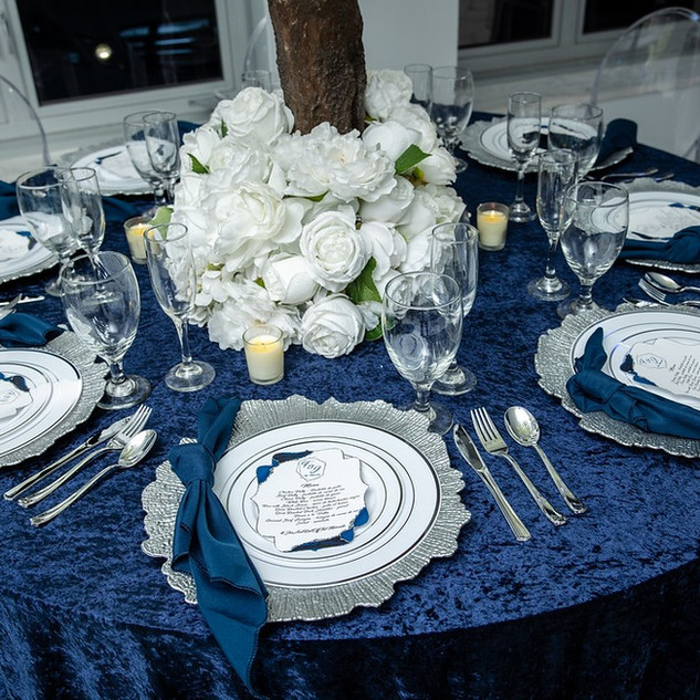 Velvet Tablecloth Navy Blue