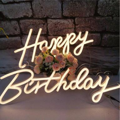 Neon Happy Birthday