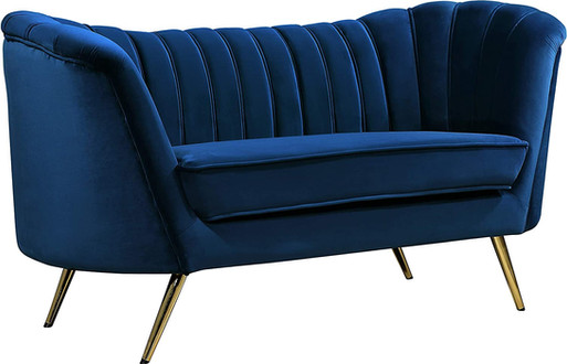Double Modern Velvet Navy Blue