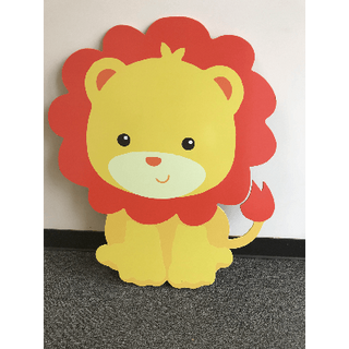 Baby Lion Wood Cut Out 3ft Tall