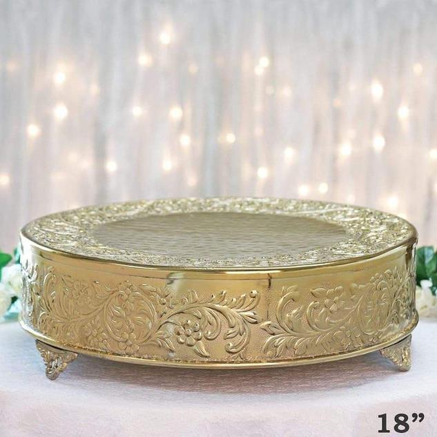 CAKESTAND ROUND GOLD 18 INCH