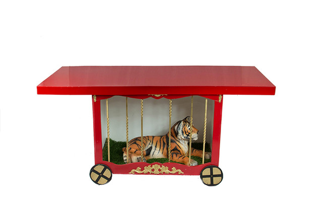 CIRCUS CAGE TABLE RED TABLE