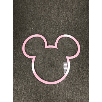MINNIE AND MICKEY FACE CROP OUT BACKDROP