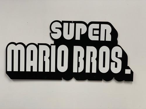 Super Mario Bros Wall Sign
