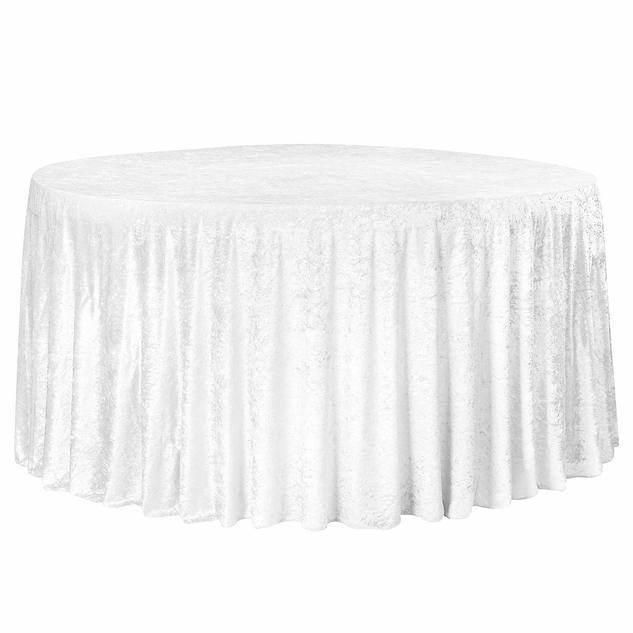 Velvet Tablecloth White