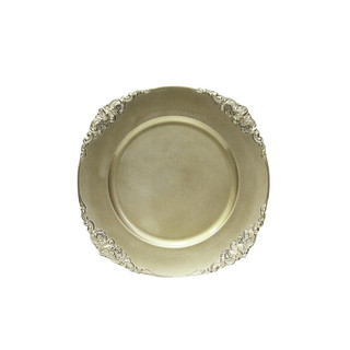 Vintage Round Charger Plate Champagne