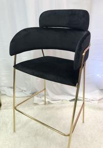 Black Gold Bar Chair
