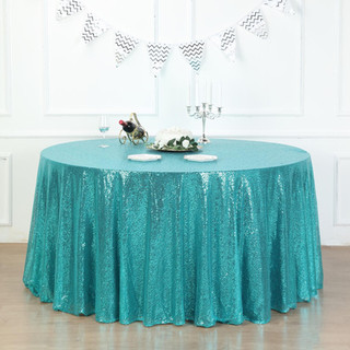 Sequin Tablecloth Turquoise